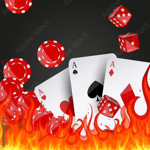 Vector illustration of casino elements