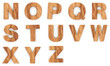 3d Font Wood N -Z