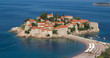 Sveti Stefan, island resort, Montenegro, morning light