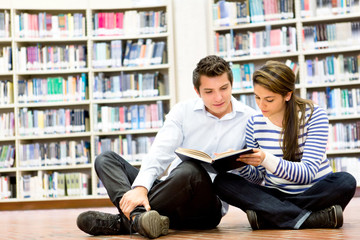 Couple at the library
