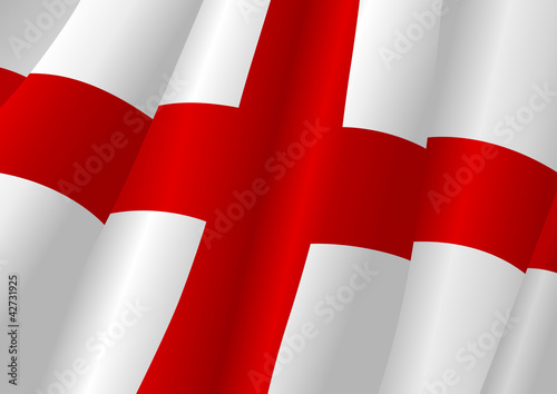 Vector illustration of England flag