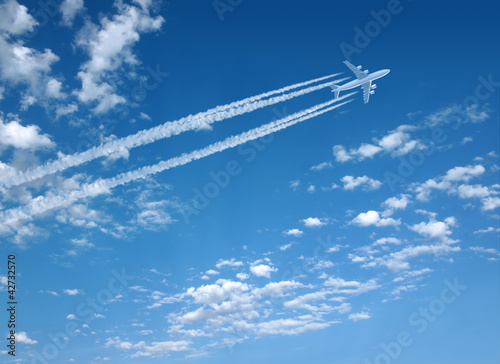Deurstickers Vliegtuig Flugzeug