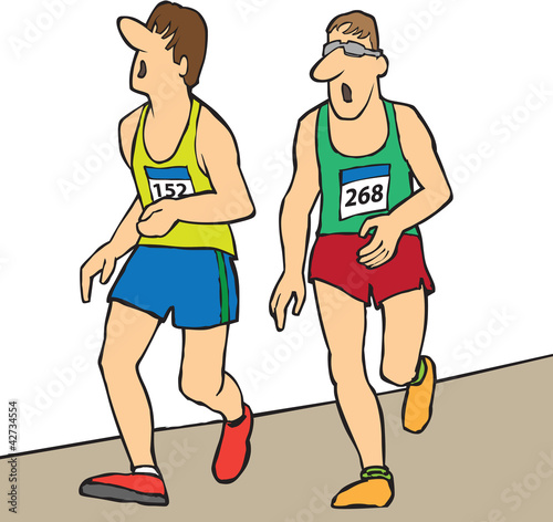 men running long distance