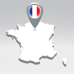 France geo location background