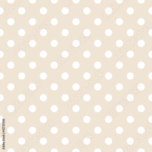 Sticker Polka dots on neutral background retro seamless vector pattern