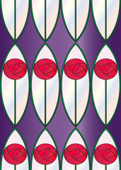 Stained Glass Roses Seamless Tile