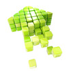 Arrow icon made of cubes isolated