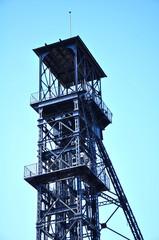 Puertollano, minería del carbón, castillete del Pozo Santa María