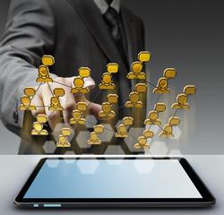 3d pixel social network icon