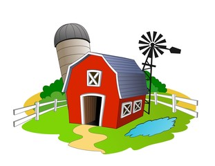 An illustration of Barn in the farm