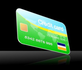 An illustration of 3d model of credit card