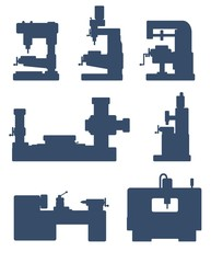 Machine tool icon set