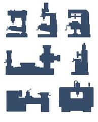 Machine tool icon set
