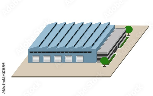An illustration of Manufacturing plant