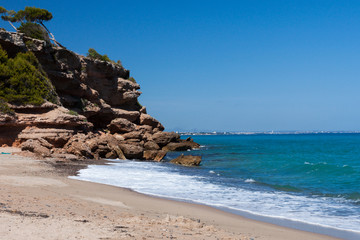 Beautiful small beach on the coast of Costa Brava, Spain