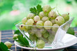 Gooseberry in glass bowl