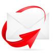 Vector E-mail with arrow