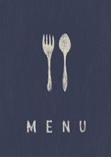 Stilvolle Restaurant Menü. A4-Format, Vektor.