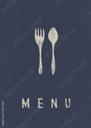Stylish Restaurant  Menu. A4 format, vector.