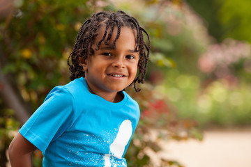 Portrait of a cute african american little boy