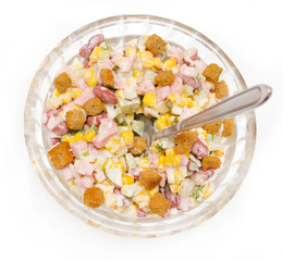 salad of corn and sausage