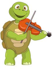 Funny Turtle. Violinist.