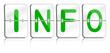 Gläserne Fallblattanezige INFO grün