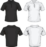 polo shirt template design