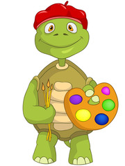 Funny Turtle. Artist.