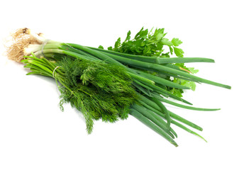 Parsley, fennel and green onions