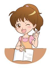女の子/勉強