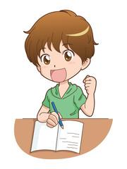 男の子/勉強