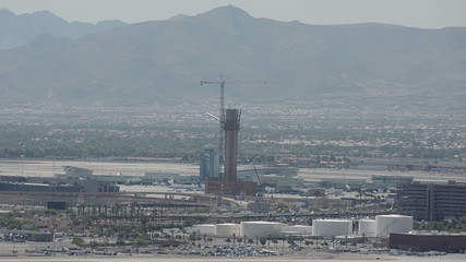 Las Vegas airport tower under construction
