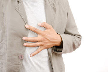 Businessman Suffering From Heart Attack.