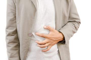 Businessman Suffering From Abdominal Pain.