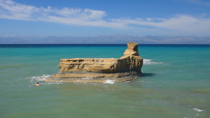 Corfu landmark: cliffs