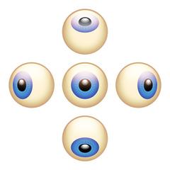 5 Directions Eyeballs