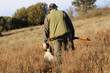 canvas print picture - Hunter with dog