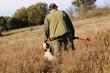 Leinwandbild Motiv Hunter with dog