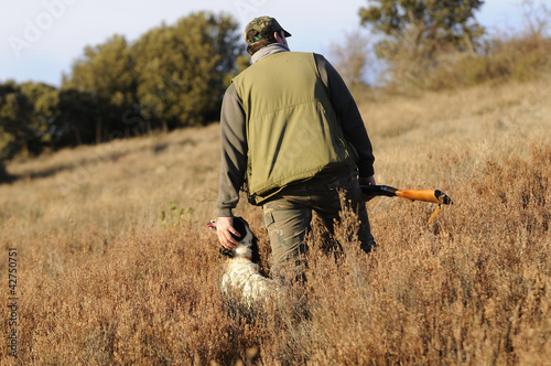 Papiers peints Chasse Hunter with dog