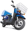 motorbike for delivery goods