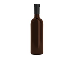 Flasche braun geschlossen