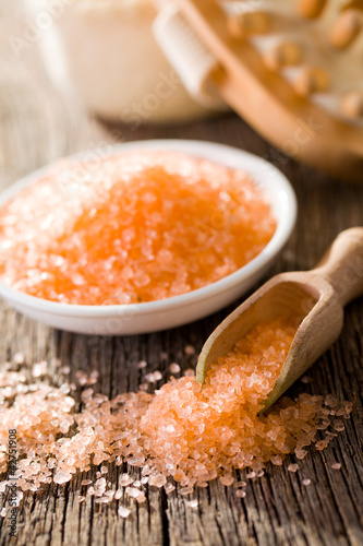 orange bath sea salt
