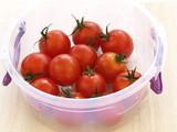 Fresh tomatoes in box