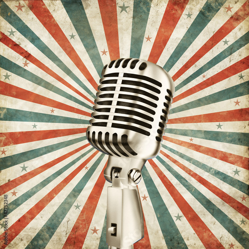 vintage microphone - 42752348