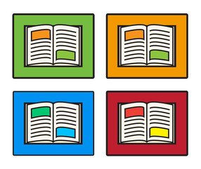collection of open book vector