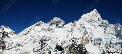 Mt Everest (8850m) and Nuptse in the Himalaya