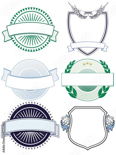 6 Schilder und  Wappen
