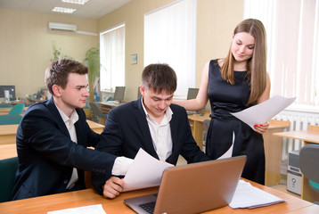 Business meeting of young people