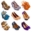 Multicolored female shoes-13